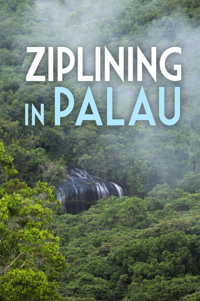 Ziplining in Palau