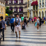 The Cobblestone Streets of Macau, China