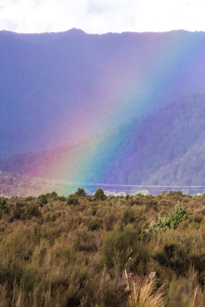 New Zealand rainbow mountains