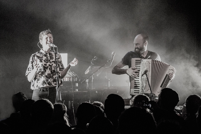 Pomplamoose Nataly Dawn and Jack Conte perform in Chicago, Illinois