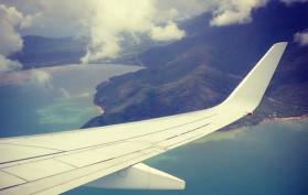 plane wing over Australia