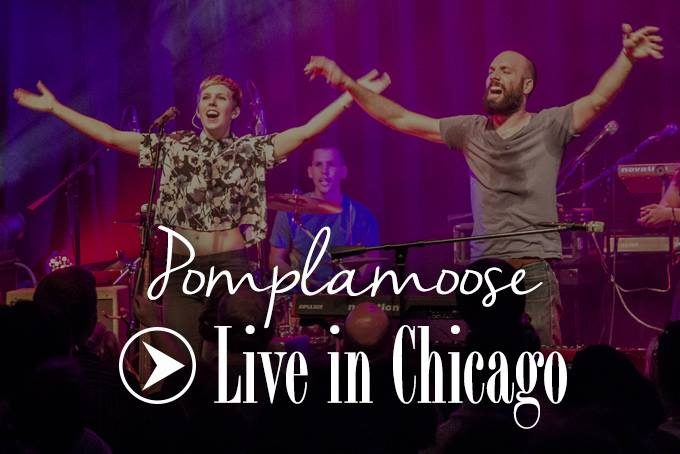 Nataly Dawn and Jack Conte of Pomplamoose signing in Chicago, Illinois at Lincoln Hall.