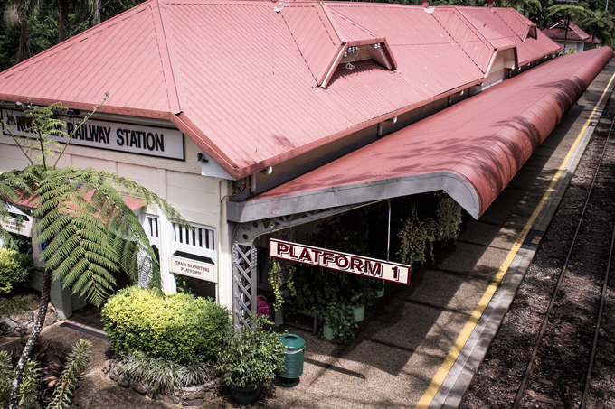 kuranda train station, cairns, australia