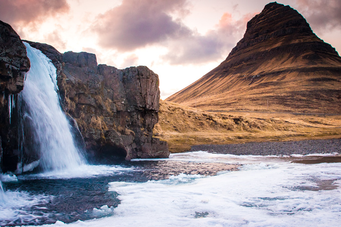 Kirkjufell Mountain & Kikjufellsfoss Waterfall, Iceland