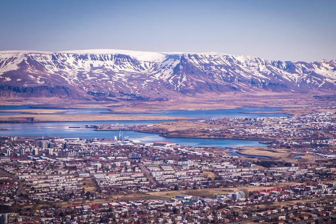 Norðurflug Helicopter Tours, Reykjavik aerial, Iceland