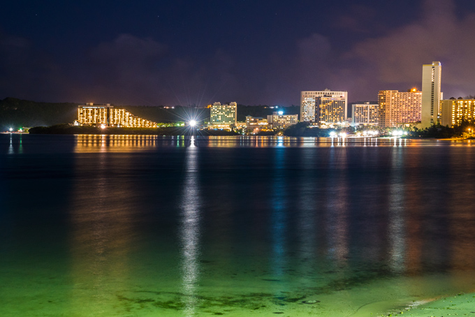 Tumon Bay at night, Guam
