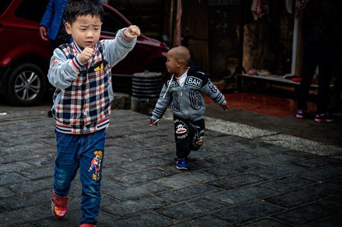 Child in Zhangjiajie, China