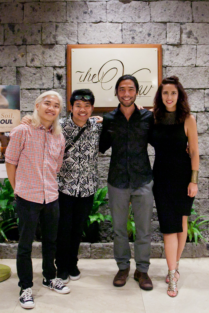 "Robert Patricio, Jr. Justin Baldovino, Brandon Li, and Jessica Peterson of ""American Soil, Chamorro Soul"""