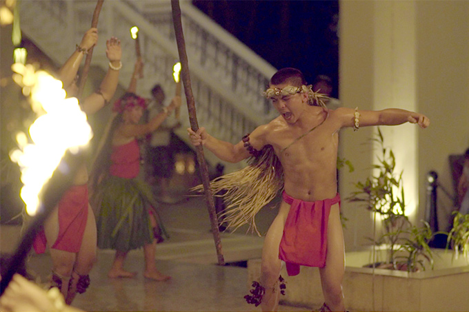 Guam Sheraton fire dancer