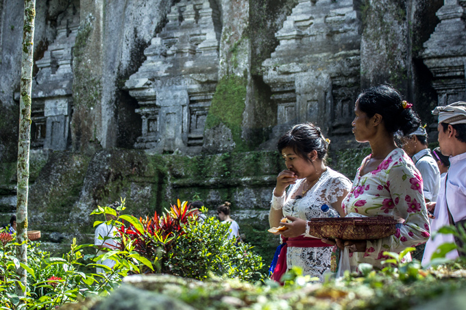 Balinese women at temple