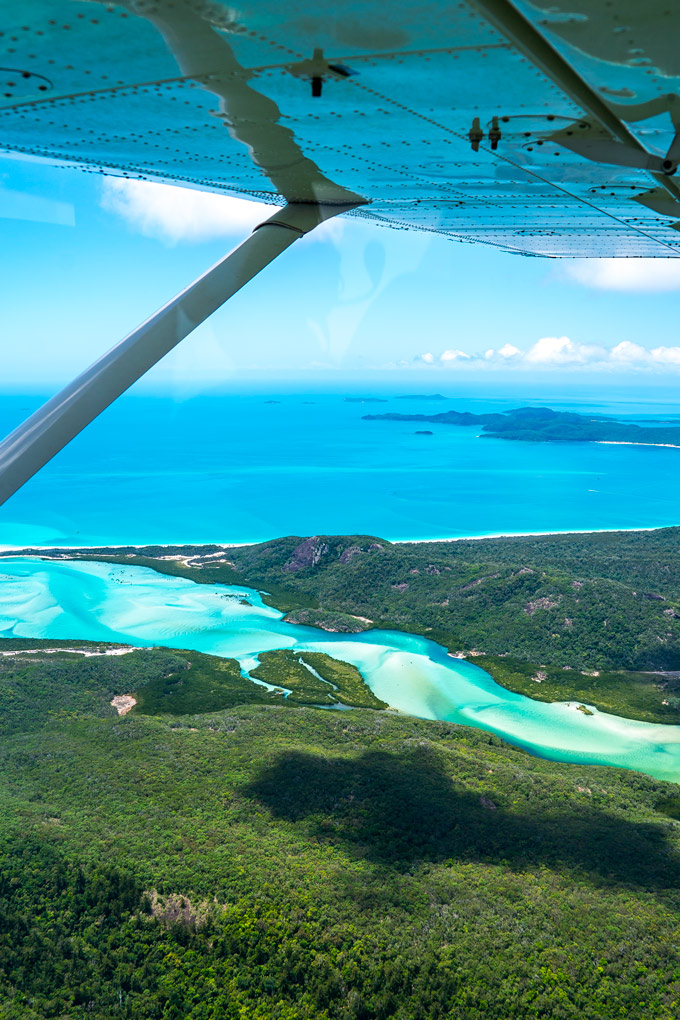 Flying Over Whitsunday Islands And The Great Barrier Reef