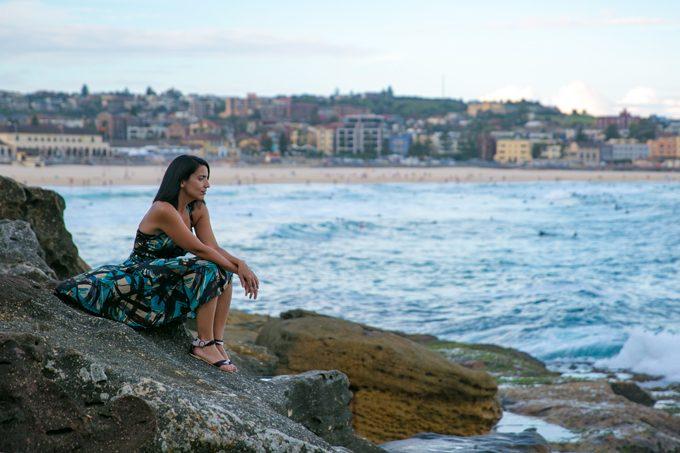 Jessica Peterson, Global Girl Travels on Bondi Beach, Sydney, Australia