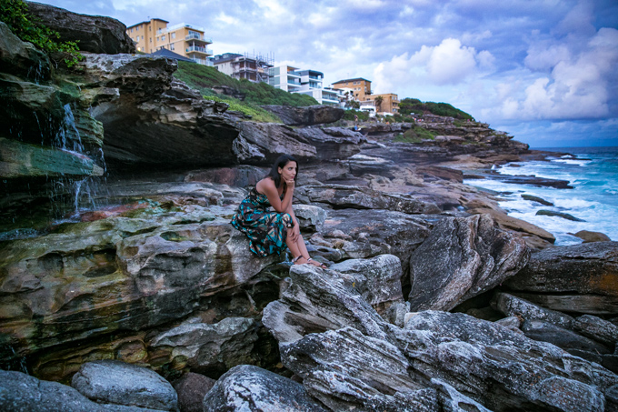 Jessica Peterson, Global Girl Travels on Tamarama Beach, Sydney, Australia