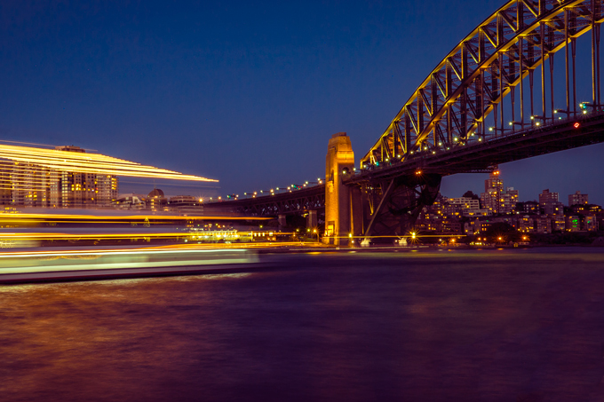 Sydney Harbour Bridge at night, Sydney, Australia