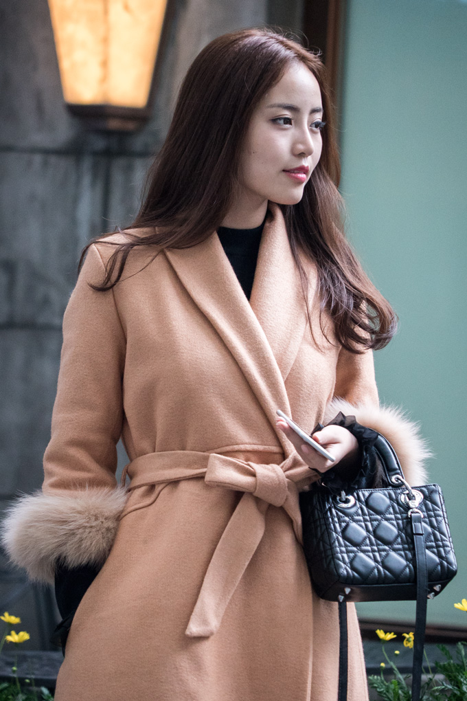 Stylish young woman in Shanghai, China
