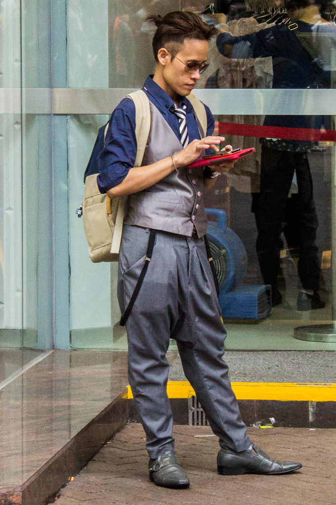 Hong Kong street style man