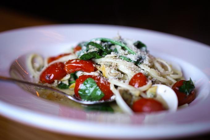 Clam Pasta at Carpaccio Italian Restaurant in Niagara Falls, Ontario, Canada
