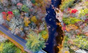Asheville aerial view, North Carolina