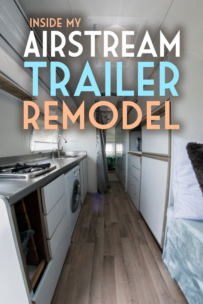 Inside My Airstream Trailer Remodel Global Girl Travels Classy Airstream Interior Design Painting