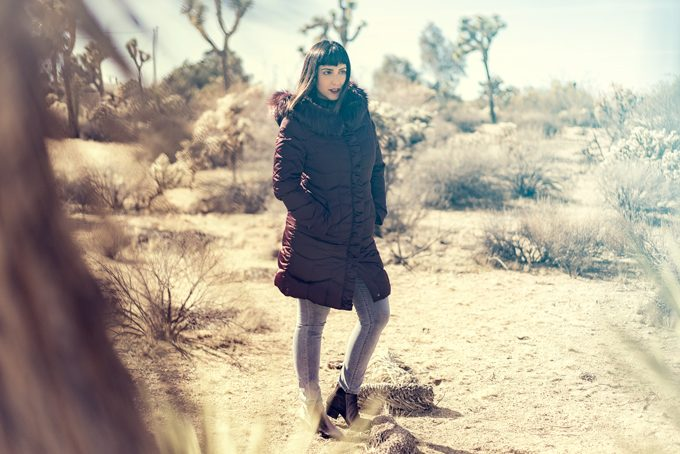 Jessica Peterson of Global Girl Travel at Joshua Tree National Forest Park in California