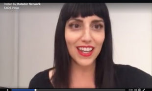 Jessica Petersonn of Global Girl Travels hosting Matador Network live stream at LACMA