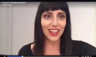 Jessica Petersonn of Global Girl Travels hosting Matador Network live stream at LACMA
