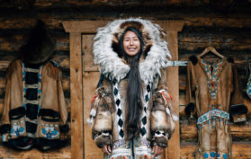 Athabascan girl in Fairbanks, Alaska