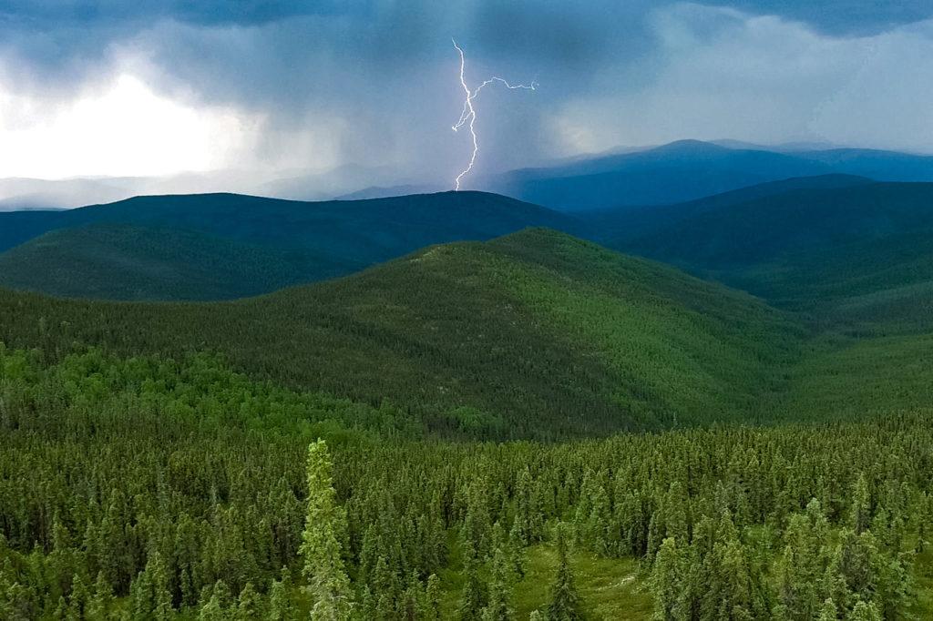Chena Dome lightning, Alaska