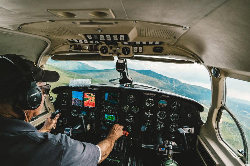 flight over bush country, Alaska