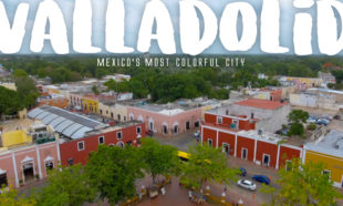 Valladolid, Mexico aerial photograph
