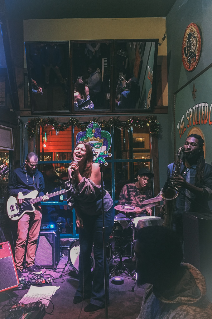 Kristina Morales at The Spotted Cat Music Club, New Orleans, Louisiana