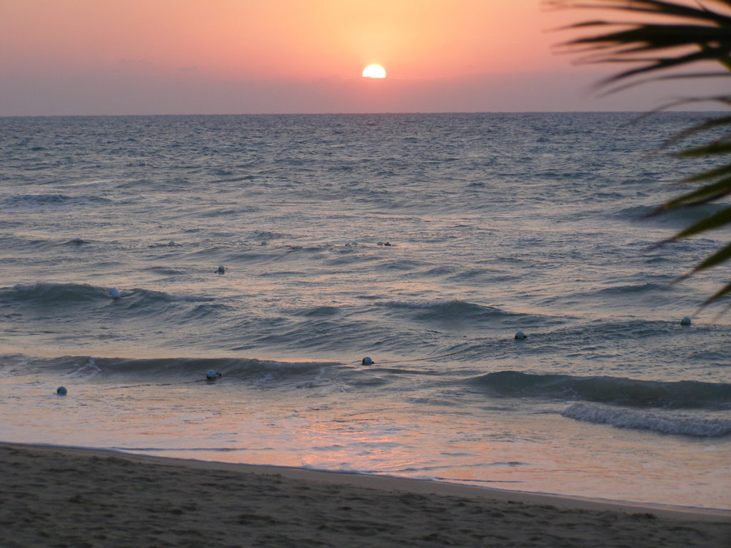 Jamaican beach sunset