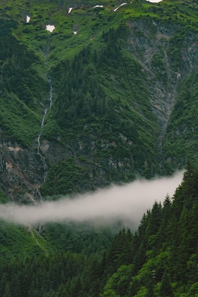 Fog in Juneau, Alaska
