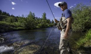 Man fishing in Breckenridge, Colorado