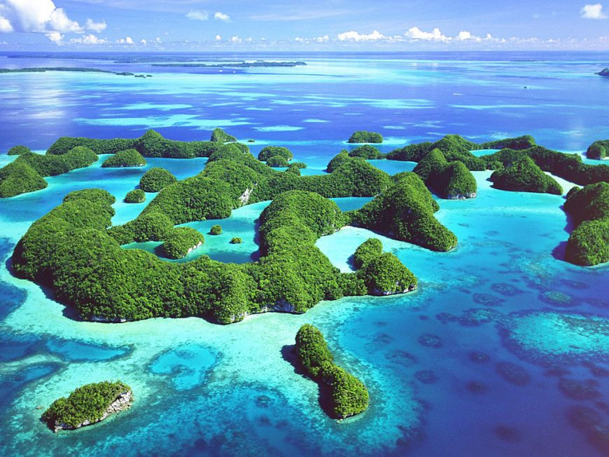 rock islands aerial