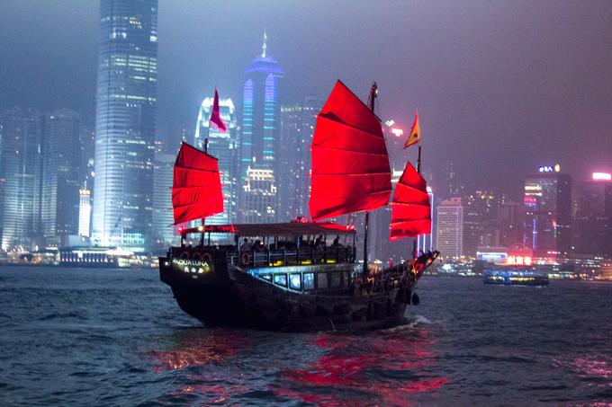 Hong Kong By Night By Sea Global Girl Travels