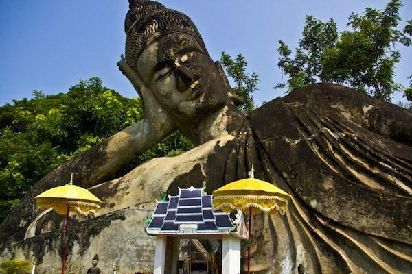 laos leaning buddha