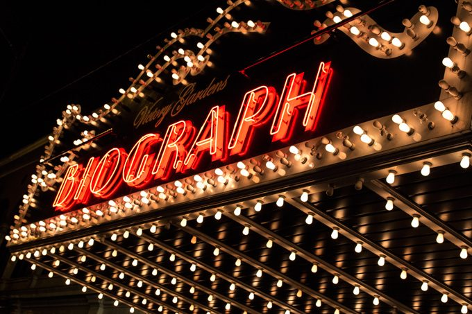 Biograph marquee, Chicago, Illinois