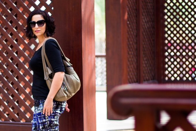 Jessica Peterson at Souk Madinat Jumeirah, Dubai, UAE