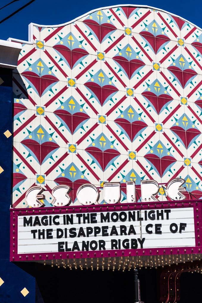 Esquire Theatre marquee, Cincinnati, Ohio