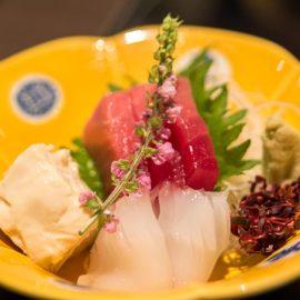 Sashimi in bowl, Tokyo, Japan