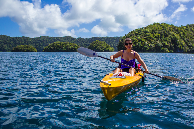Kayaking through Palau's Rock Islands