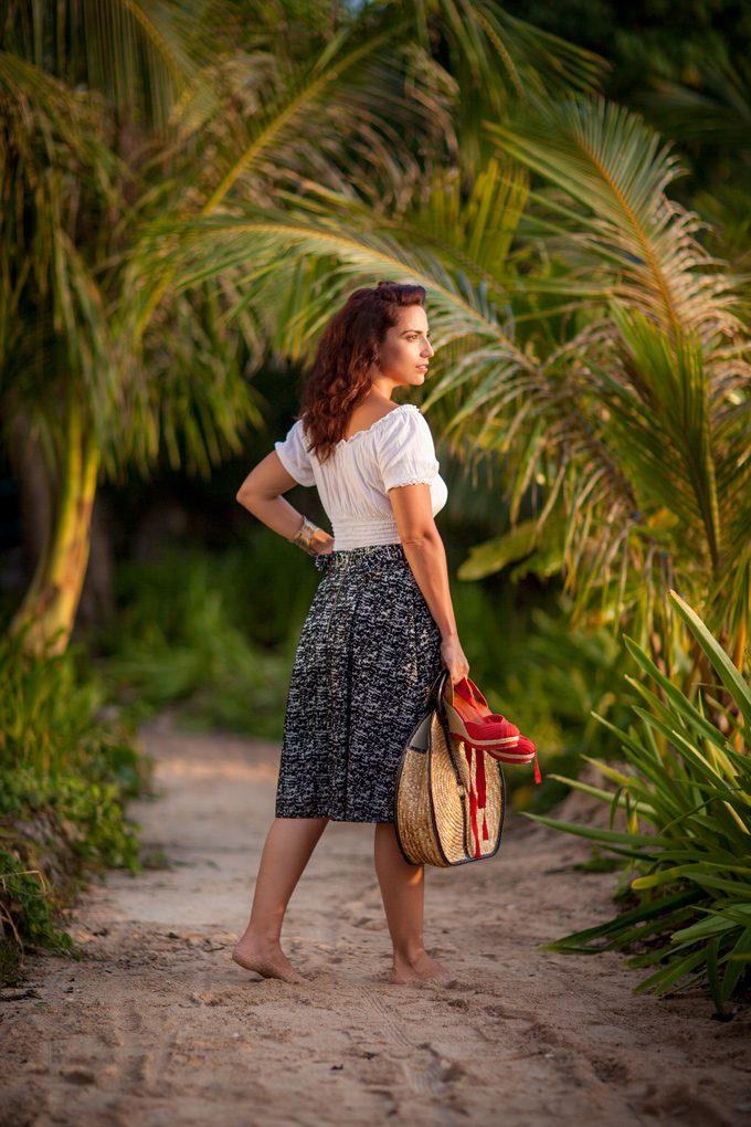 Jessica Peterson of Global Girl Travels in Guam on Gun Beach
