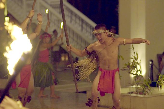 Guam Sheraton fire dancer