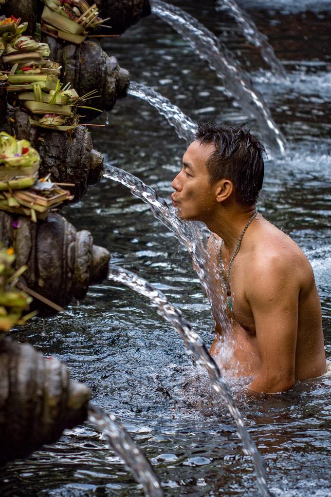 Balinese man at temple