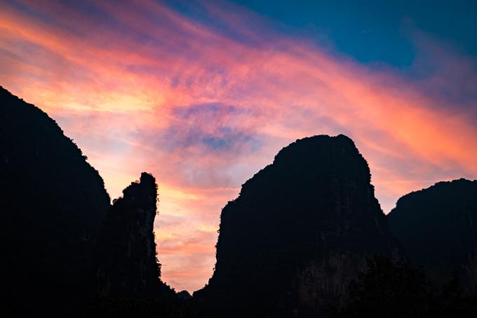 Guilin sunset, China
