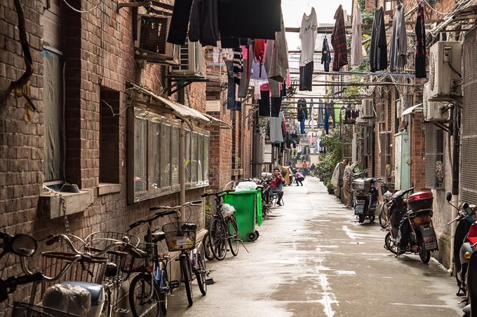 Alleyway in Shanghai, China