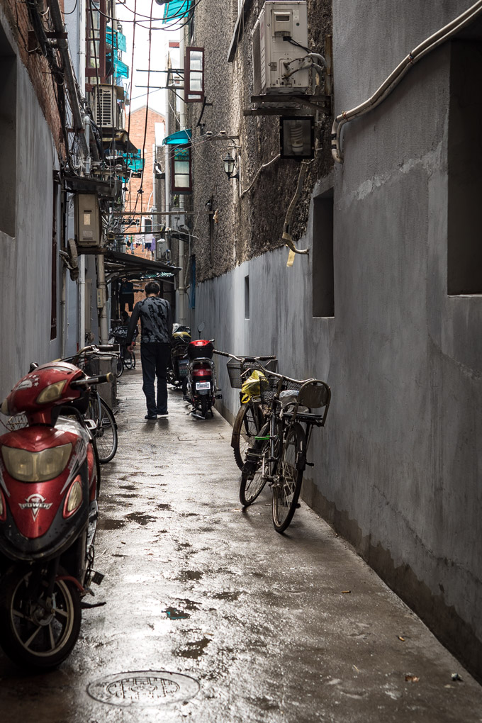 Alleyway in Shanghai, China