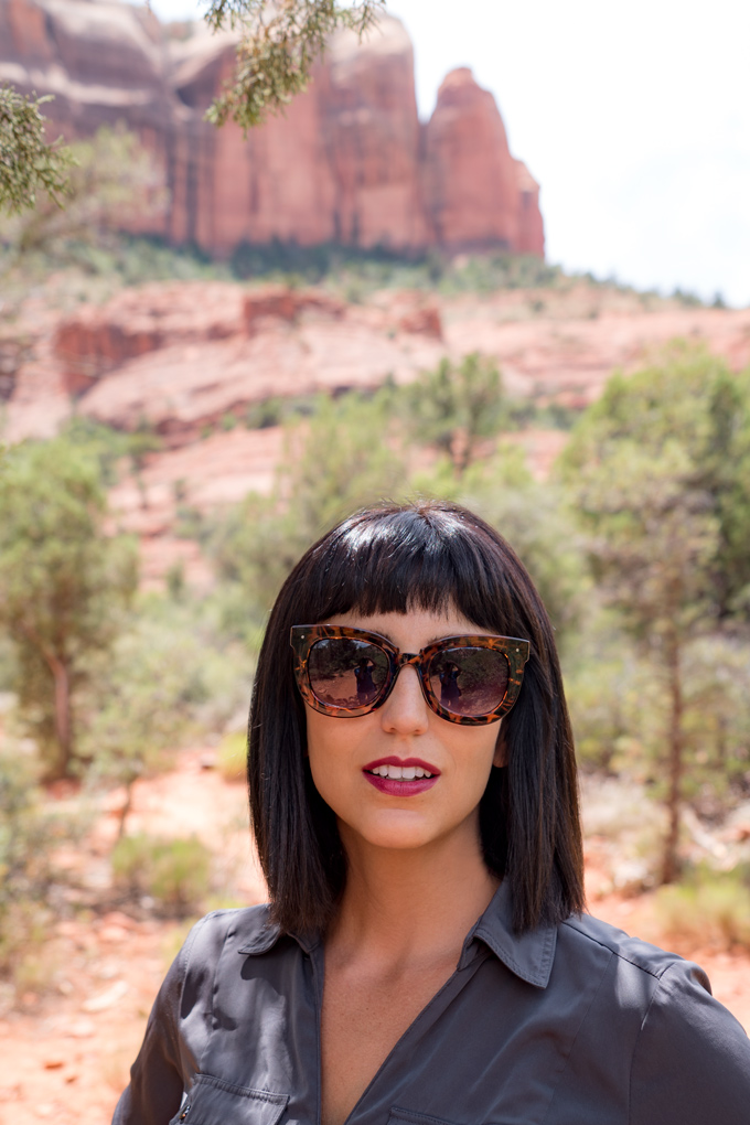 Jessica Peterson of Global Girl Travels at Red Rocks of Sedona, Arizona