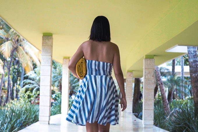 Jessica Peterson of Global Girl Travels at Barcelo Bavaro Palace Deluxe, Punta Cana, Dominican Republic